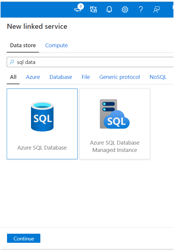 how to create linked service in azure data factory